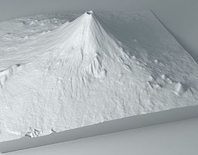 Volcano Untextured 3D model volcanic
