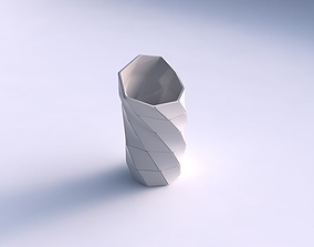 Vase vortex with large plates 3D print model