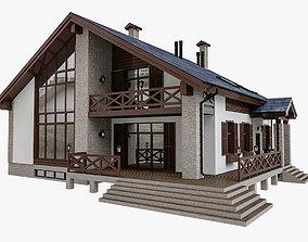 3D Alpine Residential House