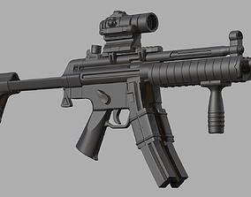 Submachine gun MP5K mp5 3D model