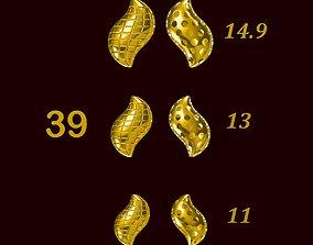 Para ball jewelery gold printable plain studded 39