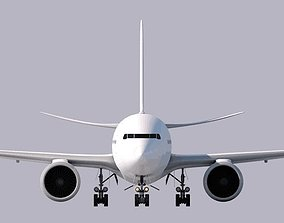 3D Boeing 777-300ER Model- Cinema 4d -CUSTOMIZABLE-