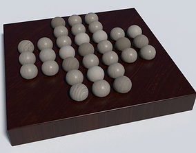 3D asset Single Chess Puzzle Wooden Toy
