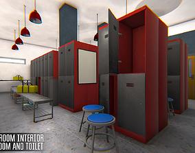 Cloakroom interior - bathroom and toilet 3D model