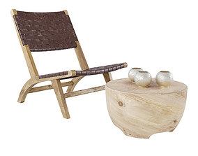 Bali Side Table 3D asset