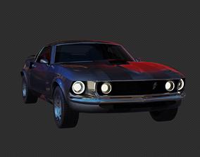 1969 Mustang from John Wick 3D asset