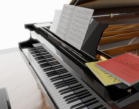 3D model C Bechstein grand piano