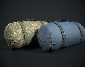 Sleeping bag 2 color options 3D asset
