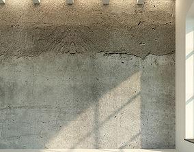 3D asset Concrete wall Old concrete 8