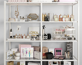 Shelving with cosmetics 3 3D