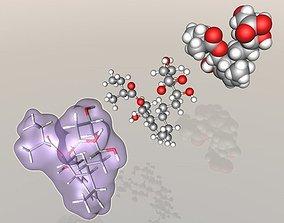 3D Pravastatin molecule