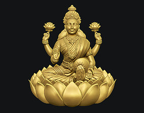 Goddess Laxmi Bas relief 3D printable model