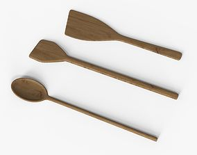 wooden spoon Collection 3D