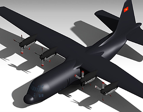 Lockheed C-130 Hercules Viet Nam 3D asset