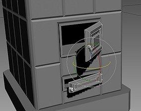 3D model room furnace