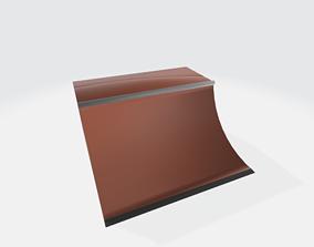 3D printable model skate ramp