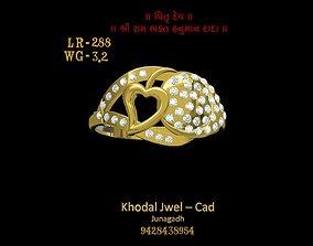 diamond-ring 3D model game-ready ladies ring