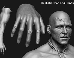3D human anatomy Head and hands only