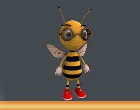 3D asset Bee Character Cartoon