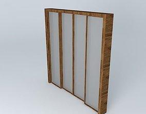 3D model Sliding glass door 2 00