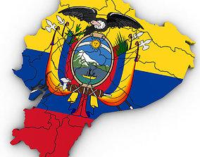 3d Political Map of Ecuador 3D model