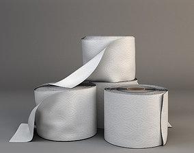 toilet paper rolls 3D asset