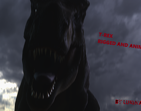 T-Rex Rigged And Animated 3D asset