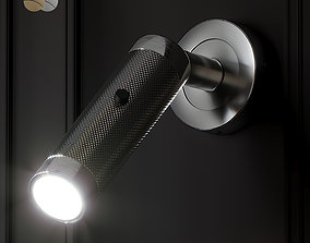 KNURLED BRUSHED BRASS WALL LIGHT by Gotham 3D model