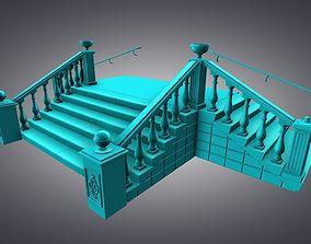 Outdoor stairs 3D asset