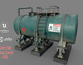 3D asset Industrial Old Tank