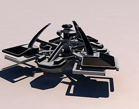 3D Atlantis city ship