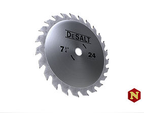 Saw Disc 24 3D asset