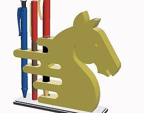 ARTISTIC HORSE HEAD PEN HOLDER 3D print model