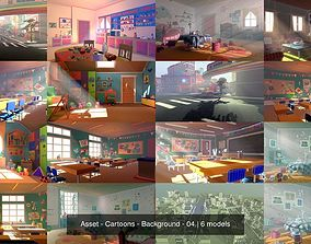 Asset - Cartoons - Background - 04 3D
