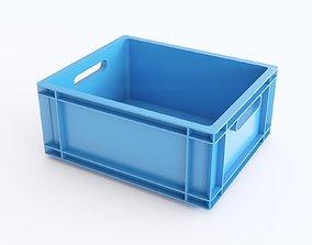 Plastic crate 03 3D model