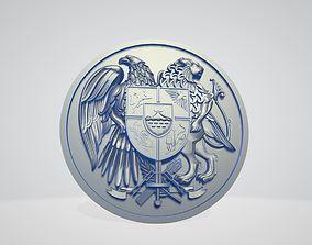 3D print model Coat of Armenia