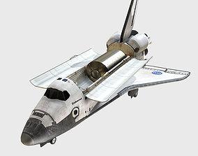 3D asset low-poly Low Poly PBR Shuttle Endeavour