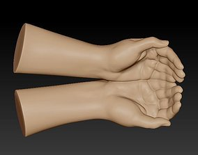 3D caring hands