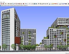 3D model Sketchup 213 - office building
