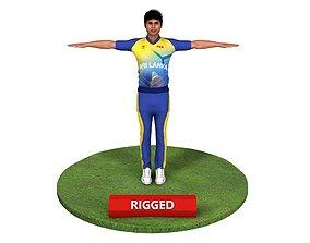 Cricket Player - Kumar Sangakkara 3D asset