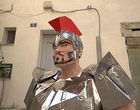 Cartoon gladiator 3D model