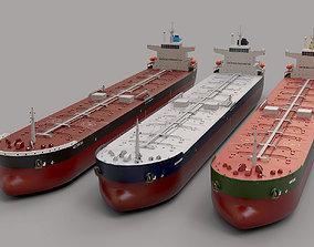 3D asset low-poly set PANAMAX tanker