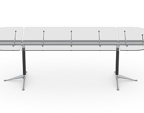 3D model Herman Miller Burdick Table 2