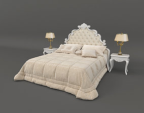 3D model European Style Carved Bed 4