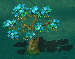 3D Cartoon version - wonderful fruit tree 04