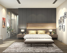 3D model Bedroom villa - Dressing room villa