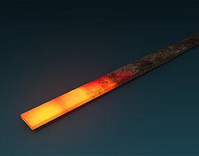 Heated Iron 3D asset