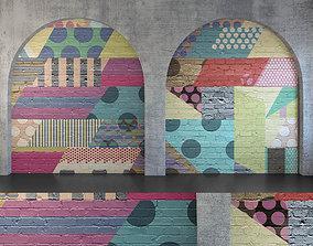 Wall Panel Set 134 3D model