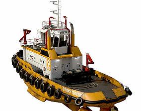 Tug boat 30 m 3D asset VR / AR ready
