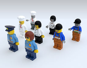 Game Ready Lego Characters 3D model